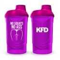 KFD SHAKER PRO Zakręcany 600 ml - Różowy