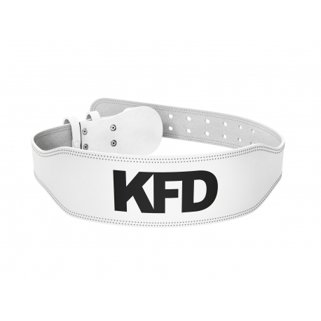 KFD Pas Skórzany PRO (Naturalna Skóra) - Biały