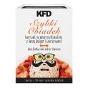 KFD Szybki obiadek - kurczak w sosie myśliwskim z kaszą bulgur i warzywami - 300 g