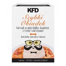 KFD Szybki obiadek- kurczak w sosie słodko-kwaśnym z ryżem i warzywami - 300 g