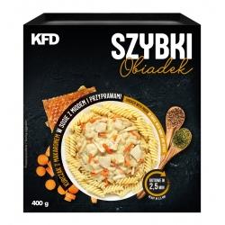 KFD Szybki Obiadek - Kurczak z makaronem w sosie z papryką i pomidorami - 410 g
